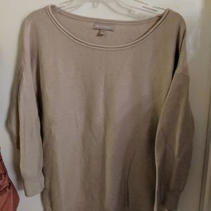 Banana Republic large sweater beige brown knit top